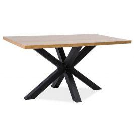 Casarredo Jídelní stůl CROSS dřevo masiv/kov 150x90