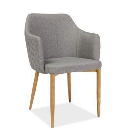 Casarredo Jídelní čalouněná židle ASTOR šedá