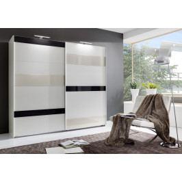 Casarredo Šatní skříň MONDRIAN 860 bílá/šedá/prosecco
