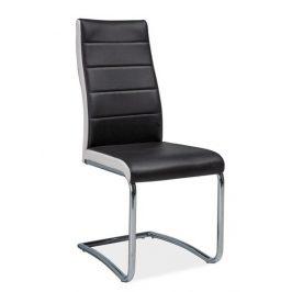 Casarredo Jídelní čalouněná židle H-353 černá/bílé boky Židle do kuchyně