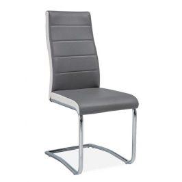 Casarredo Jídelní čalouněná židle H-353 šedá/bílé boky