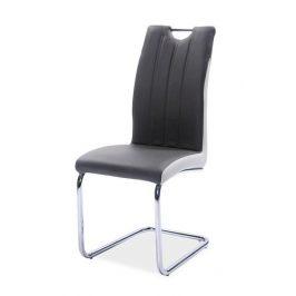Casarredo Jídelní čalouněná židle H-342 šedá/světlá šedá