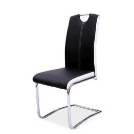 Casarredo Jídelní čalouněná židle H-341 černá/bílé boky Židle do kuchyně