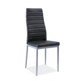 Casarredo Jídelní čalouněná židle H-261 Bis černá/alu