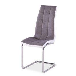Casarredo Jídelní čalouněná židle H-103 šedá/bílá