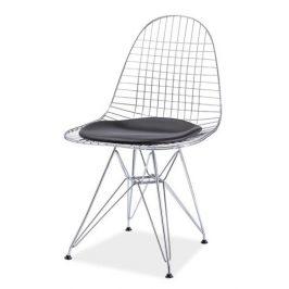 Casarredo Jídelní židle INTEL I chrom/černá