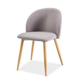 Casarredo Jídelní čalouněná židle ERIN šedá/dub