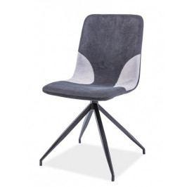 Casarredo Jídelní čalouněná židle ENRICO šedá