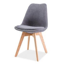 Casarredo Jídelní židle DIOR dub/tmavě šedá