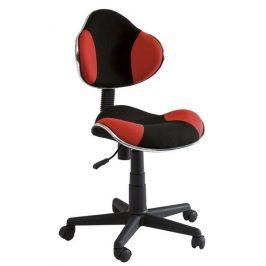 Casarredo Kancelářská židle Q-G2 černá/červená