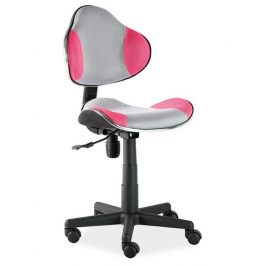 Casarredo Kancelářská židle Q-G2 šedá/růžová Kancelářská křesla