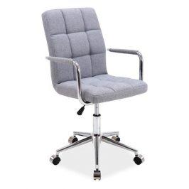 Casarredo Kancelářská židle Q-022 šedá látka Kancelářská křesla