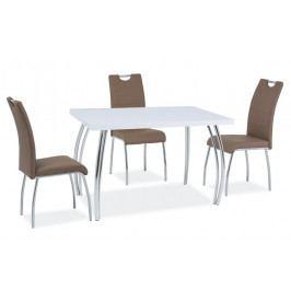 Casarredo Jídelní stůl SK-2 102x64 bílý lesk