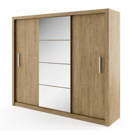 Casarredo Šatní skříň IDEA 01 dub shetland zrcadlo 250 cm