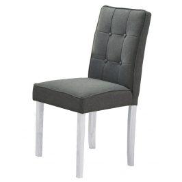 Casarredo Jídelní čalouněná židle MALTES šedá/bílá