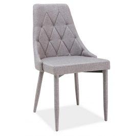 Casarredo Jídelní čalouněná židle TRIX šedá