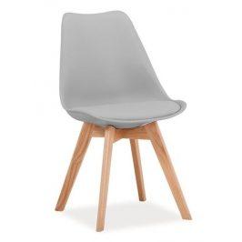 Casarredo Jídelní židle KRIS světle šedá/dub