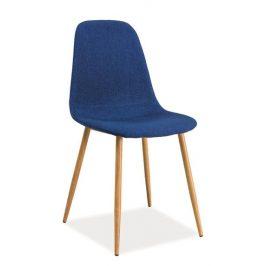 Casarredo Jídelní čalouněná židle FOX modrá