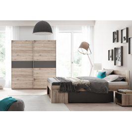 Casarredo Ložnice ROMA ( postel 160, skříň, 2 stolky )