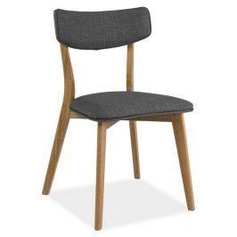 Casarredo Jídelní čalouněná židle KARL šedá/dub Židle do kuchyně