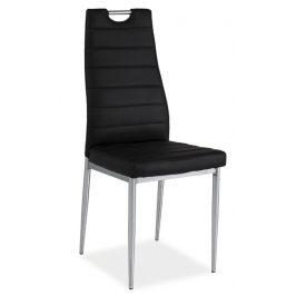 Casarredo Jídelní čalouněná židle H-260 černá/chrom