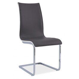 Casarredo Jídelní čalouněná židle H-133 šedá/bílá
