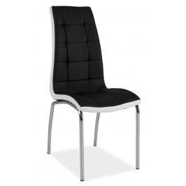 Casarredo Jídelní čalouněná židle H-104 černá/bílá