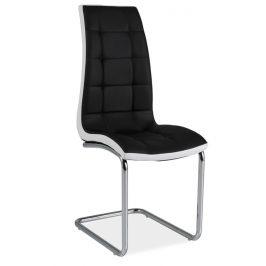 Casarredo Jídelní čalouněná židle H-103 černá/bílá