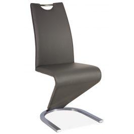 Casarredo Jídelní čalouněná židle H-090 šedá/ocel