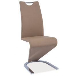 Casarredo Jídelní čalouněná židle H-090 tmavě béžová/chrom