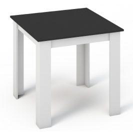 Casarredo Jídelní stůl MANGA 80x80 bílá/černá