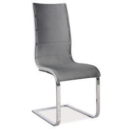 Casarredo Jídelní čalouněná židle H-668 šedá/bílá
