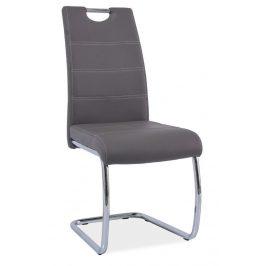 Casarredo Jídelní čalouněná židle H-666 šedá