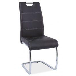 Casarredo Jídelní čalouněná židle H-666 černá Židle do kuchyně