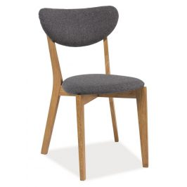Casarredo Jídelní čalouněná židle ANDRE šedá/dub