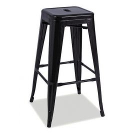 Casarredo Barová kovová židle LONG černá mat