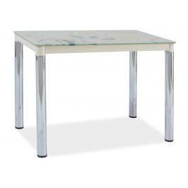 Casarredo Jídelní stůl DAMAR II krémová-chrom