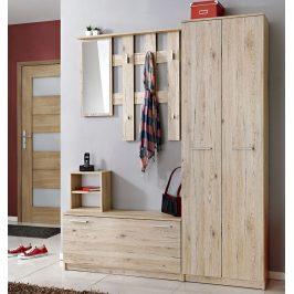 Casarredo Předsíňová stěna RENO 1+2+3+4 se skříní ( věšák, botník, zrcadlo, skříň )
