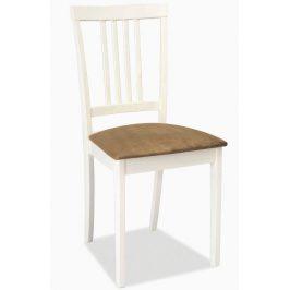 Casarredo Jídelní dřevěná židle CD-63 bílá/béžová