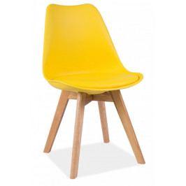 Casarredo Jídelní židle KRIS žlutá/dub