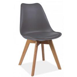 Casarredo Jídelní židle KRIS šedá/dub