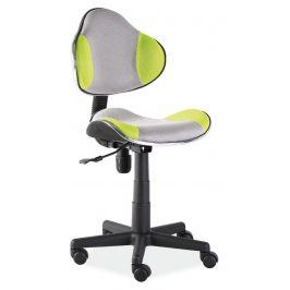 Casarredo Kancelářská židle Q-G2 šedá/zelená Kancelářská křesla
