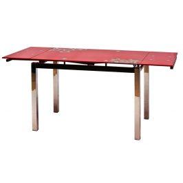 Casarredo Jídelní stůl GD-017 rozkládací červený