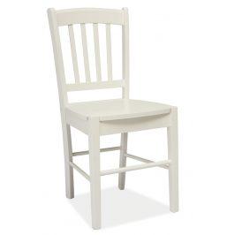 Casarredo Jídelní dřevěná židle CD-57 bílá Židle do kuchyně