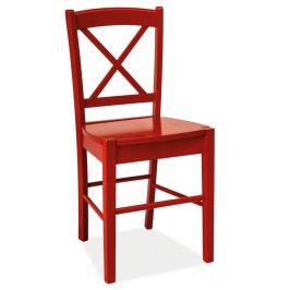 Casarredo Jídelní dřevěná židle CD-56 červená