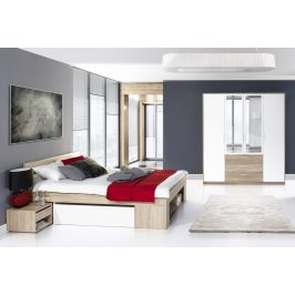 Casarredo Ložnice MILO II (postel 140, skříň)