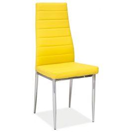 Casarredo Jídelní čalouněná židle H-261 žlutá Židle do kuchyně