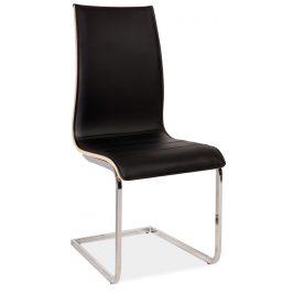 Casarredo Jídelní čalouněná židle H-133 černá/dub sonoma