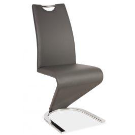 Casarredo Jídelní čalouněná židle H-090 šedá/chrom