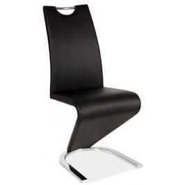 Casarredo Jídelní čalouněná židle H-090 černá/chrom